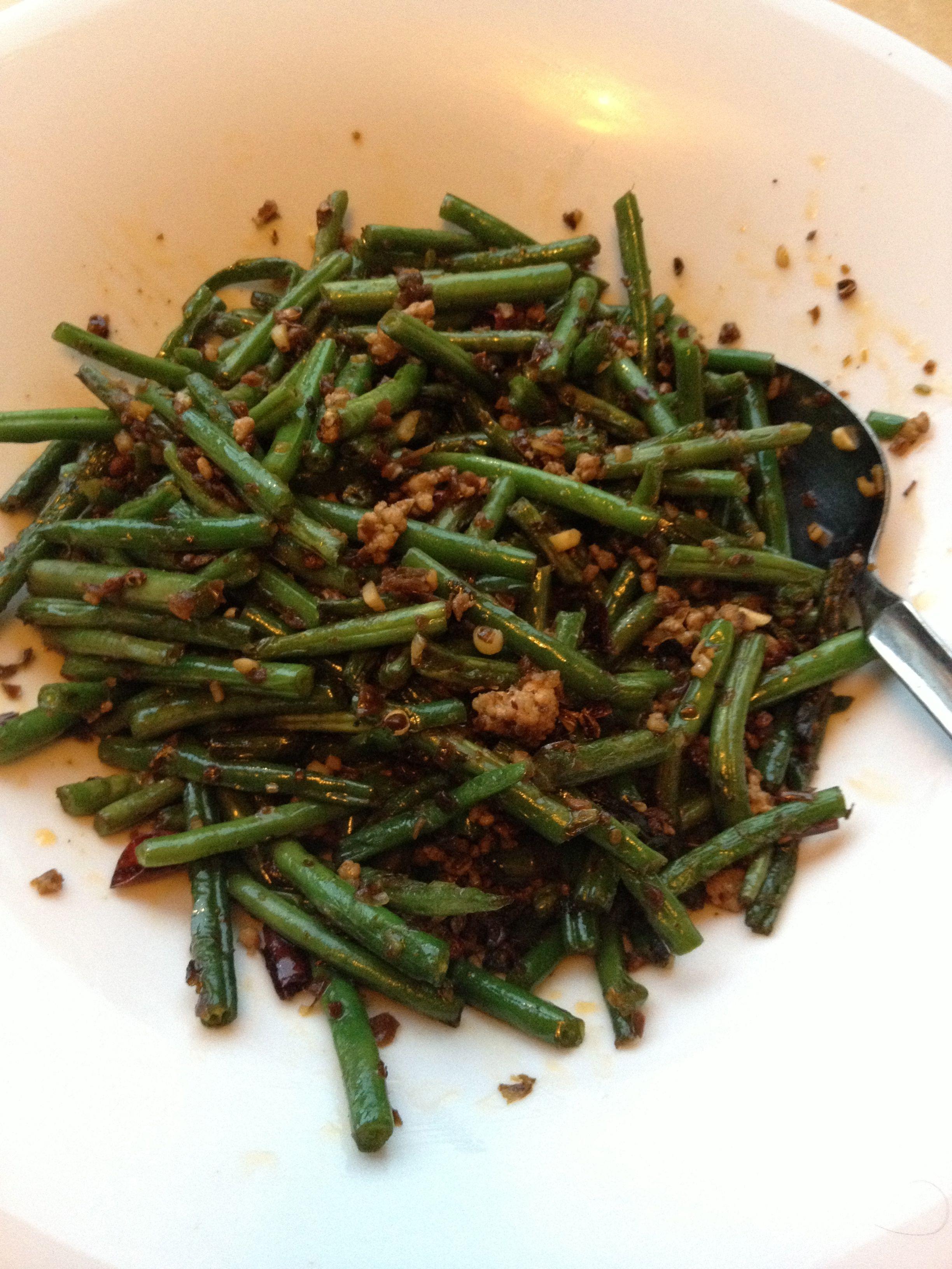 Sichuan fried green beans to celebrate Dermot's arrival in Dublin ...