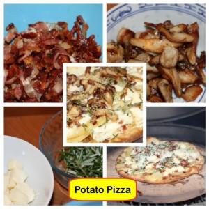 A potato pizza