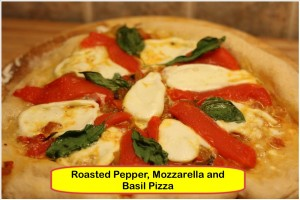 A roasted pepper pizza