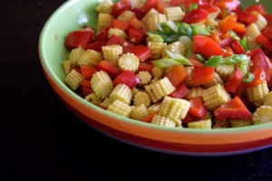 Sweetcorn and peppers - photo by Solange
