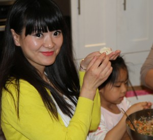 Cousin Wei Wei can wrap dumplings perfectly too