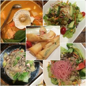 A selection of side dishes at Taikiku