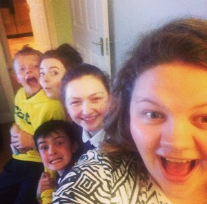 A selfie from my giddy nieces and nephews