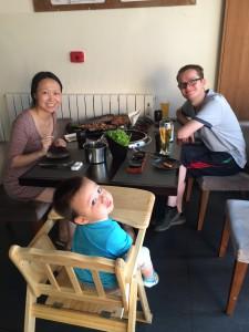 The Gao O'Neills at IKI Korean BBQ