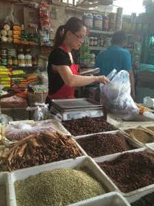 The spice stall at Jiang Tai Market