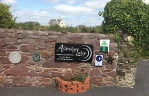 The entrance at Aldridge Lodge