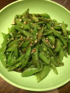 Sugar Snap Peas with garlic