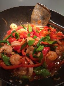 Kaffir Lime Chilli Prawns