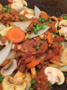 Beef curry in the wok